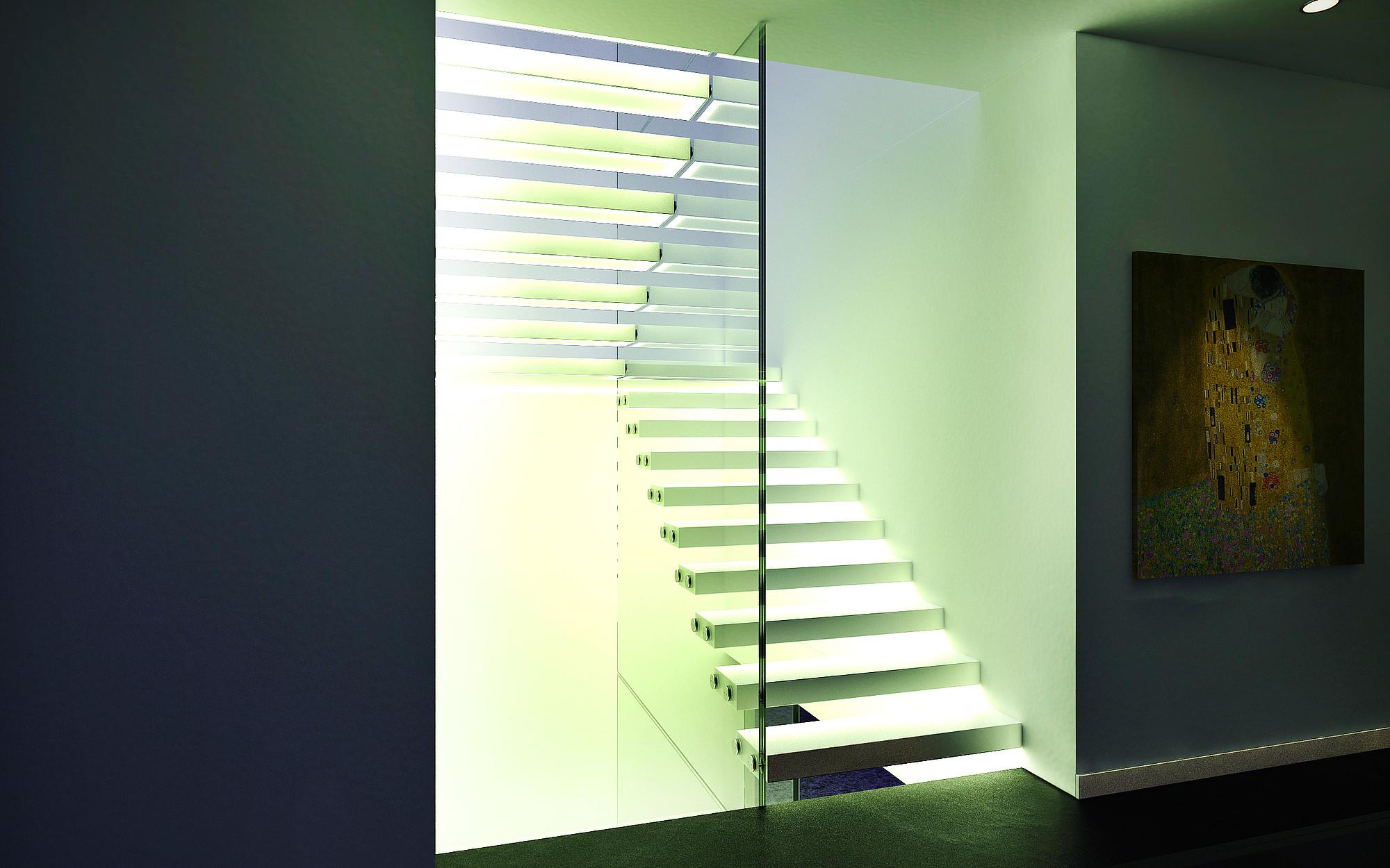 Beliebt Treppe mit Glaswand - Siller Treppen GD63